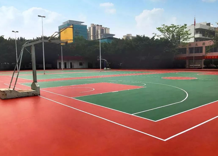 球场体育地坪施工案例