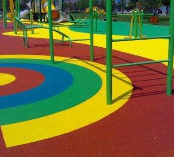 户外运动场彩色透水地坪